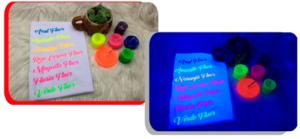 Impresiones con pigmento base agua tintuprint fluorescente