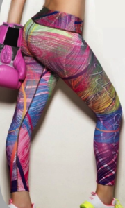 Leggins de nylon estampado