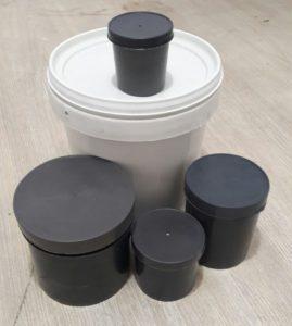 Envases de plastico recuperado para empacar tintas ecológicas